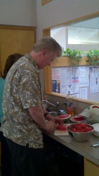 Mike preparing