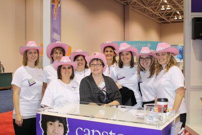 Capstone Staff with Author Marci Peschke