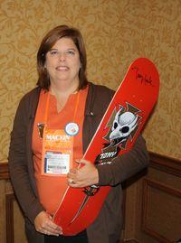 Elizabeth with Skateboard